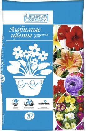 """Плодородный грунт Четыре сезона """"Любимые цветы"""""""