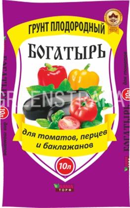 """Плодородный грунт Богатырь """"Для томатов, перца и баклажанов"""""""